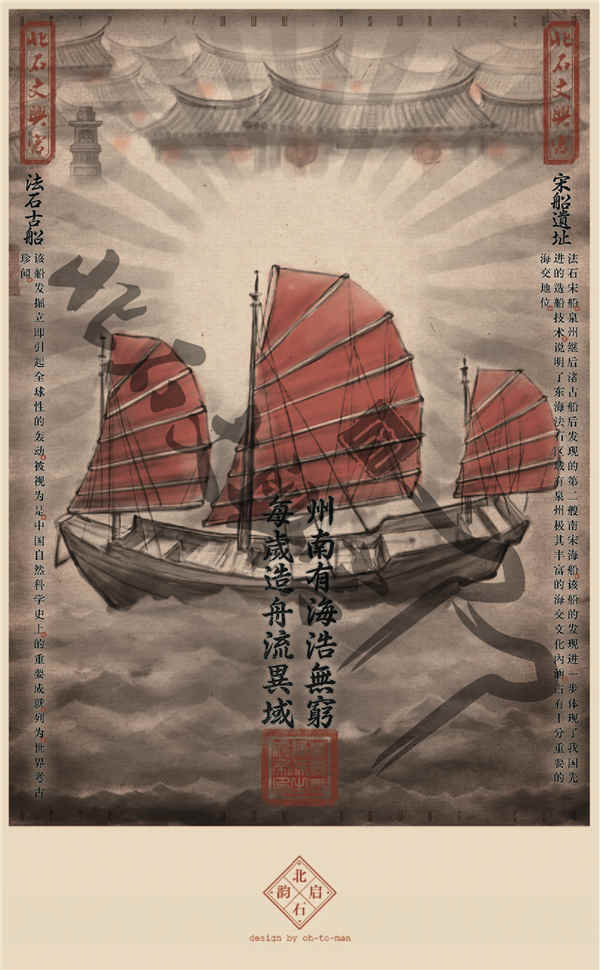 泉州北石文兴宫首套手绘明信片正式发布